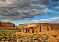 Pueblo Bonito Indian Ruin is illuminated by the morning sun as a big thunderstorm blows itself out  In This Well Know Commercial Landscape Photograph By Brian Buckner Photography, Shreveport, Louisian