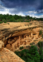 Cliff Palace is an abandoned Indian ruin that once housed a thousand people is shown in This Commercial Landscape Photograph Of Cliff Palace Indian Ruins By Brian Buckner photography, Shreveport.