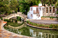 The Arneson River Theatre Located Along The Historic San Antonio River Adjacent To The River Walk In San Antonio, Texas is shown in this In This Commercial Architectural Photograph By Brian Buckner Ph