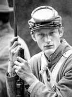 A Young Man Who Is About To Enter His First Battle During The Civil War Of The United States is shown in this professional commercial environmental portrait photograph by Brian Buckner Photography.
