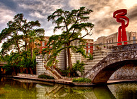 The River Walk Is An Environment That Combines The Historic San Antonio River, Cypress Trees And Key Architectural Elements In This Commercial Architectural photograph by Brian Buckner Photography.