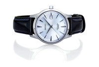 A classic seiko watch is shown on a white background for use in advertising or commercial photography by brian buckner photography.